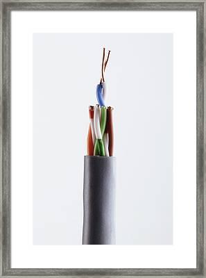 Twisted-pair Cabling Framed Print by Dorling Kindersley/uig