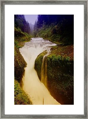 Twister Falls Framed Print by Jeff Swan