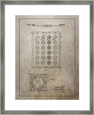 Twister Gameboard Patent Framed Print by Dan Sproul