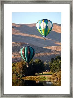 Two Balloons In Morning Sunshine Framed Print by Carol Groenen