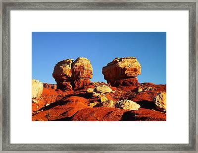 Two Big Rocks At Capital Reef Framed Print by Jeff Swan