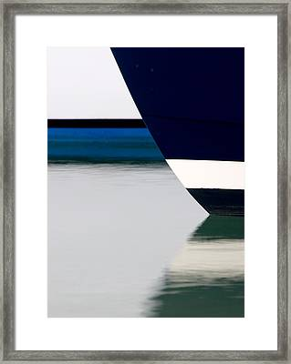 Two Boats Edgartown Framed Print by CJ Middendorf