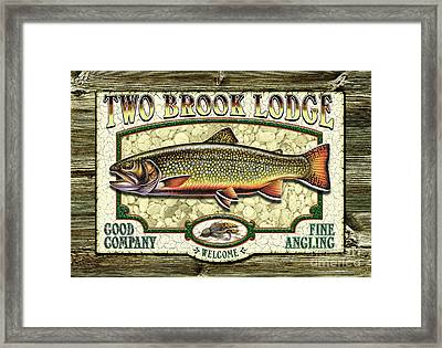 Two Brook Lodge Framed Print by JQ Licensing