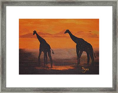 Two By Two Framed Print by Barbara Hayes