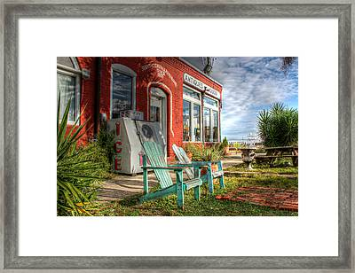 Two Chairs Around The Corner From The Old Stuff Shop Framed Print by Lynn Jordan