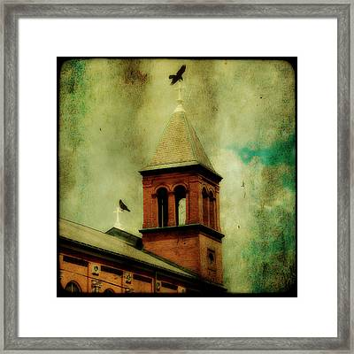 Two Crosses Two Crows Framed Print by Gothicolors Donna Snyder