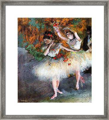 Two Dancers Entering The Scene Framed Print by Pg Reproductions