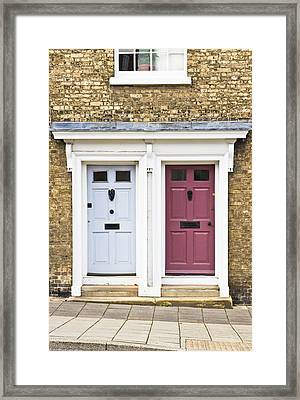 Two Doors Framed Print by Tom Gowanlock