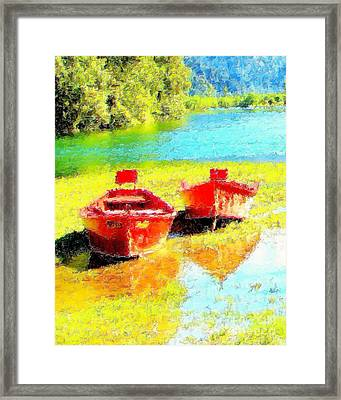 Two Dorys Framed Print by Jodie  Scheller