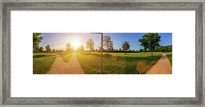 Two Footpath In Park Framed Print by Wladimir Bulgar