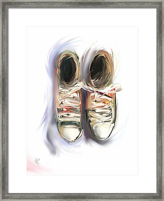 Two Friends Framed Print by Russell Pierce