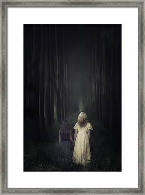 Two Girls In A Forest Framed Print by Joana Kruse