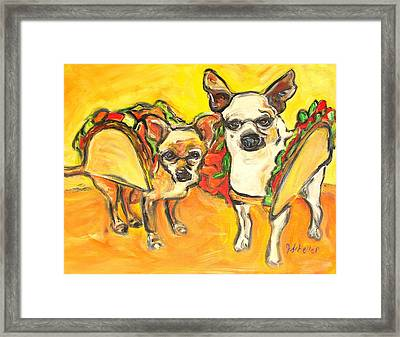 Two Good Tacos Framed Print by Jodie  Scheller