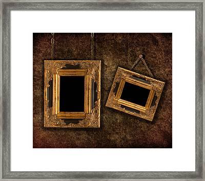 Two Hanging Frames Framed Print by Amanda Elwell