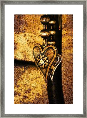 Two Hearts Together Framed Print by Randi Grace Nilsberg