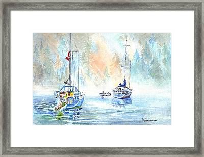 Two In The Early Morning Mist Framed Print by Carol Wisniewski
