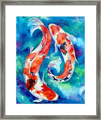 Two Koi Fish Framed Print by Christy  Freeman