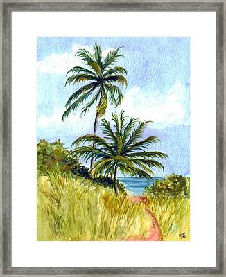 Two Palms Framed Print by Clara Sue Beym