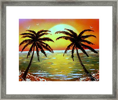 Two Palms Framed Print by Greg Moores
