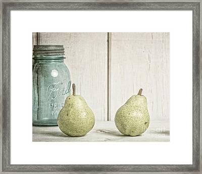 Two Pear Still Life Framed Print by Edward Fielding