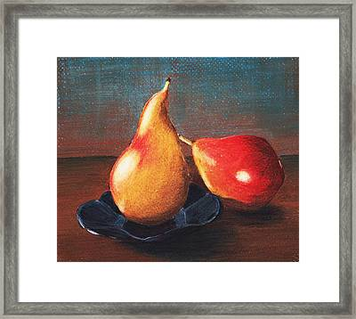 Two Pears Framed Print by Anastasiya Malakhova