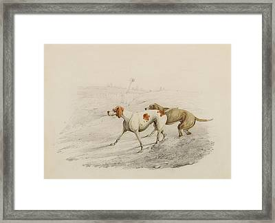Two Pointers Framed Print by Henry Thomas Alken