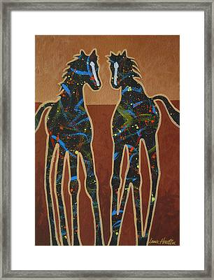 Two Ponies Framed Print by Lance Headlee