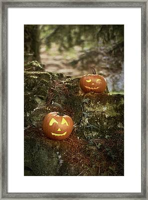 Two Pumpkins Framed Print by Amanda And Christopher Elwell