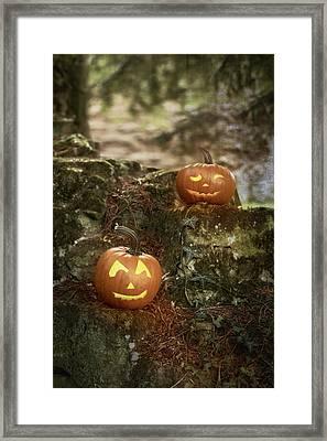 Two Pumpkins Framed Print by Amanda Elwell