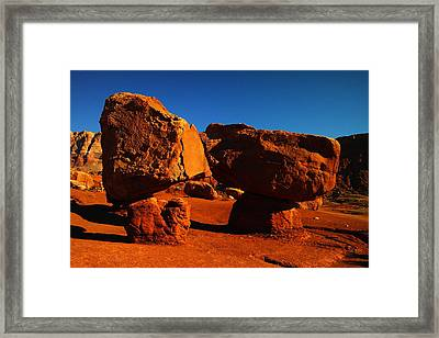 Two Rocks At Cliff Dwellers Framed Print by Jeff Swan