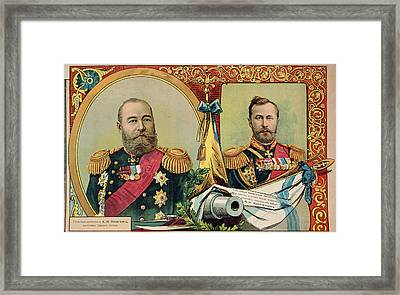 Two Russian Commanders Framed Print by British Library
