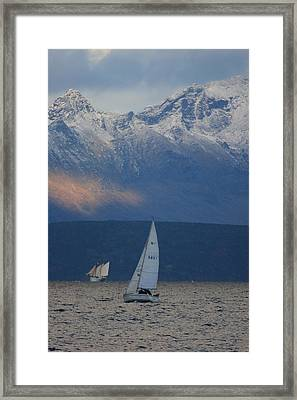 Two Ships Framed Print by Ulrich Kunst And Bettina Scheidulin