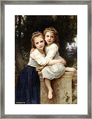 Two Sisters Framed Print by William Bouguereau