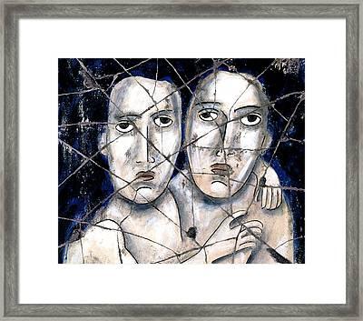 Two Souls - Study No. 1 Framed Print by Steve Bogdanoff