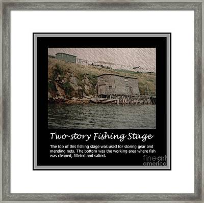 Two-story Fishing Stage Framed Print by Barbara Griffin