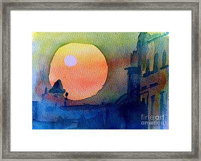 Two Suns Framed Print by Sandra Stone