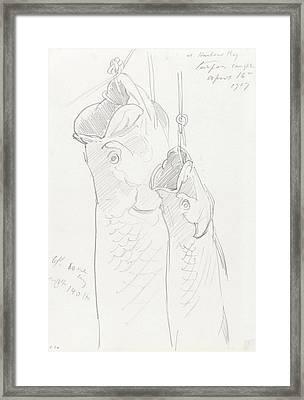 Two Tarpon, 1917 Framed Print by John Singer Sargent