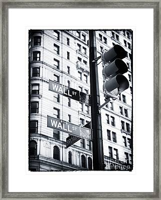 Two Times Wall St. Framed Print by John Rizzuto