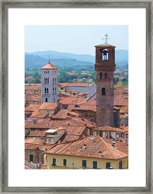 Two Towers Framed Print by Jenny Armitage