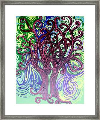 Two Trees Twining Framed Print by Genevieve Esson
