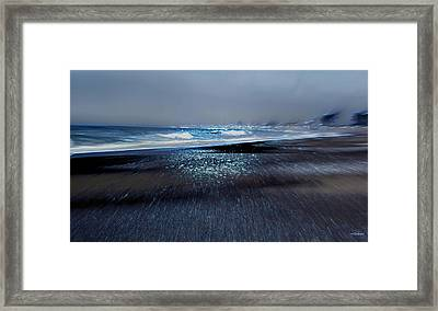 Two Waves Framed Print by Kathy Bassett
