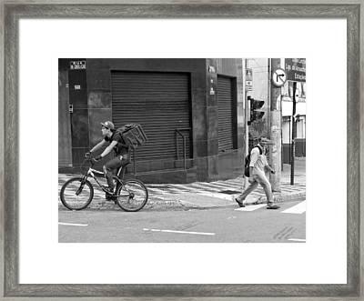 Two Way Street Framed Print by Julie Niemela