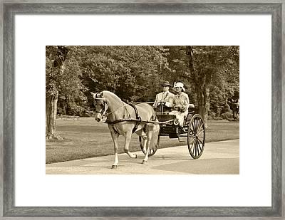 Two Wheel Cart Framed Print by Wayne Sheeler