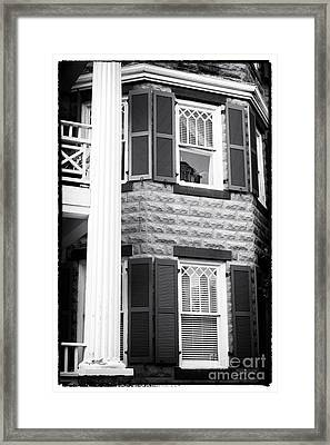 Two Windows In Savannah Framed Print by John Rizzuto