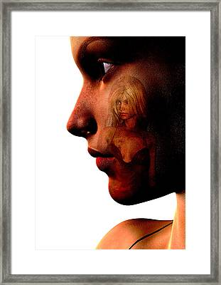 Two Women Framed Print by David Ridley