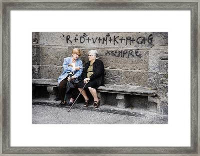 Two Women In Naples Framed Print by Jim  Calarese