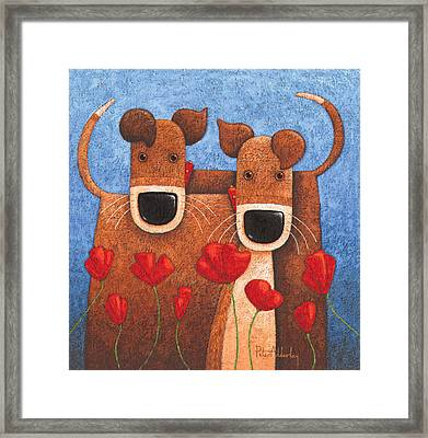 Twos Company Framed Print by Peter Adderley
