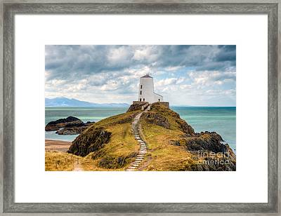 Twr Mawr Path Framed Print by Adrian Evans