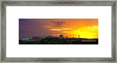 Txst - The Rising Star Of Texas Framed Print by Randy Smith