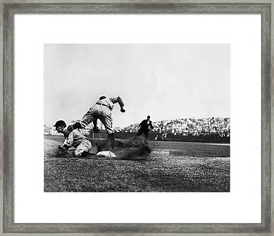 Ty Cobb Famous Slide Framed Print by Retro Images Archive